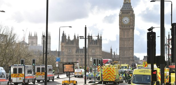 Westminster Bridge ambulances